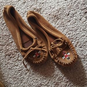 Minnetonka Mocs Suede Leather 10